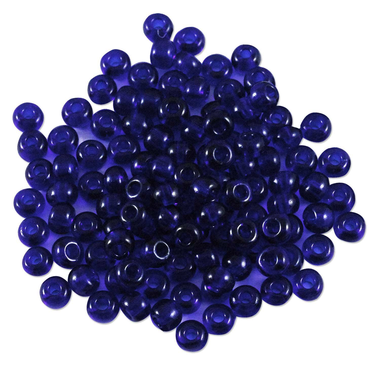 preciosa czech seed bead 6  0 transparent cobalt blue  10