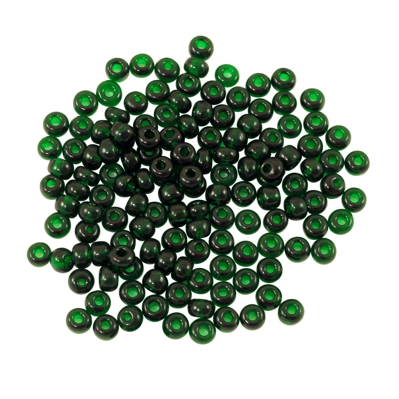 preciosa seed bead 6 0 transparent emerald 10 grams