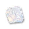 Swarovski 5328 6mm White Opal Bicone Bead (10-Pcs)
