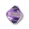 Swarovski 5301 6mm Tanzanite Bicone Bead (10-Pcs)