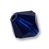 Swarovski 5328 6mm Dark Indigo Bicone Bead (10-Pcs)