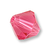 Swarovski 5328 6mm Indian Pink Bicone Bead (10-Pcs)