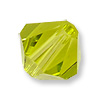Swarovski 5328 6mm Light Olivine Bicone Bead (10-Pcs)