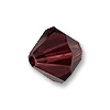 Swarovski 5328 4mm Burgundy Bicone Bead (10-Pcs)