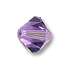 Swarovski 5328 4mm Tanzanite Bicone Bead (10-Pcs)