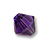 Swarovski 5328 4mm Purple Velvet Bicone Bead (10-Pcs)