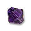 Swarovski 5328 6mm Purple Velvet Bicone Bead (10-Pcs)