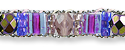 Purple Crystal Ankle Bracelet