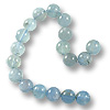 Aquamarine Round Beads 8-9mm