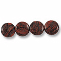 Brazil Agate Puffed Round Beads 15mm (4-Pcs)
