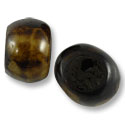 Bone Beads Dyed Tea Brown Rondelle 25-30mm (3-Pcs)