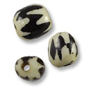 Bone Bead Batik Barrel 10mm (10-Pcs)