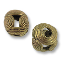 Ghana Brass and Copper Bead Round 12-13mm (1-Pc)