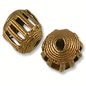 Ghana Temple Bead Round Brass and Copper 13-14mm (1-Pc)