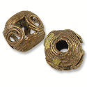 Ghana Beads Round Brass and Copper 14-15mm (1-Pc)