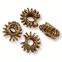 Ghana Wire Bead Copper and Brass 7x4mm (10-Pcs)