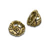 Bead Cap with Design 4mm Pewter Antique Gold Plated (2-Pcs)
