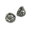 Bead Cap with Design 4mm Pewter Antique Silver Plated (2-Pcs)