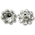Bead Cap - Scalloped 11x5mm Pewter Antique Silver (1-Pc)