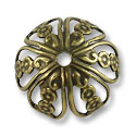 Bead Cap - Large 18x12mm Antique Brass Plated (1-Pc)