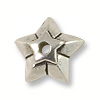 Star Bead Cap Pewter Antique Silver Plated (1-Pc)