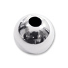 Round Bead Lightweight 5mm Sterling Silver (2-Pcs)