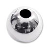 Round Bead Lightweight 8mm Sterling Silver (1-Pc)