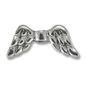 Bead Angel Wing 20x9mm Pewter Antique Silver Plated (1-Pc)