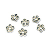 Spacer Bead Rings 3.8mm Sterling Silver (4-Pcs)