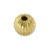 Gold Filled Round Bead Corrugated 3mm (2-Pcs)