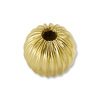 Gold Filled Round Bead Corrugated 4mm (1-Pc)
