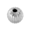 Round Bead Corrugated 4mm Sterling Silver (2-Pcs)