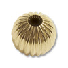 Corrugated Round Beads 6mm 14k Yellow Gold (1-Pc)