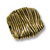 Bead Wire Wrap 9.5mm Pewter Antique Gold Plated (1-Pc)