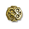 Bead 8x8mm Pewter Antique Gold Plated (1-Pc)