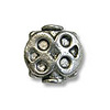 Bead Pewter 8x8mm Pewter Antique Silver Plated (1-Pc)