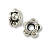 Bead Bali Style Flower 4x3mm Sterling Silver (1-Pc)