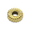 Rondelle Bead Corrugated 4x2mm 14k Yellow Gold (1-Pc)