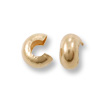 Gold Filled Crimp Covers 4mm (2-Pcs)