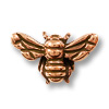 Bead Honeybee 16x9mm Pewter Antique Copper Plated (1-Pc)