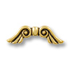 Bead Angel Wing 22x7mm Pewter Antique Gold Plated (1-Pc)