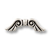 Bead Angel Wing 22x7mm Pewter Antique Silver (1-Pc)