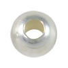 Round Bead 6mm Seamless Sterling Silver Filled (4-Pcs)