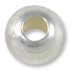 Round Bead 8mm Seamless Sterling Silver Filled (2-Pcs)