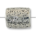 Bead Large Hole 11x9mm Pewter Antique Silver Plated (1-Pc)