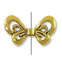 Bead Wings 10x18mm Pewter Antique Gold Plated (1-Pc)
