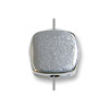 5mm Sterling Silver Rounded Square Bead (1-Pc)