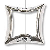 Bead Frame Square 13mm Sterling Silver (1-Pc)