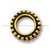 Bead Frame - Round 6mm Pewter Antique Gold Plated (1-Pc)
