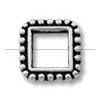 Bead Frame - Square 6mm Pewter Antique Silver Plated (1-Pc)